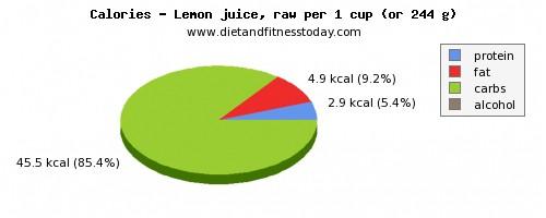 Dh Lemon Juice Nutrition Facts